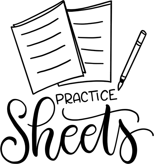 practice sheets graphic