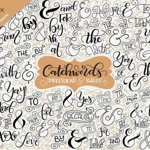 Catchwords, ampersands & swirls