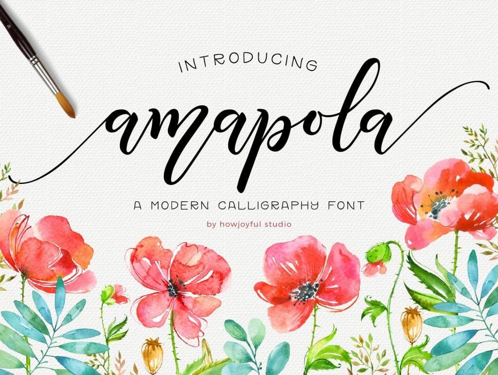 Amapola script font