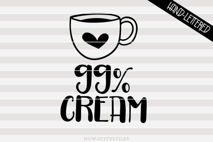 99% Cream – SVG file