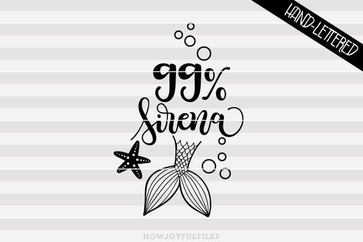 99% Sirena- SVG file