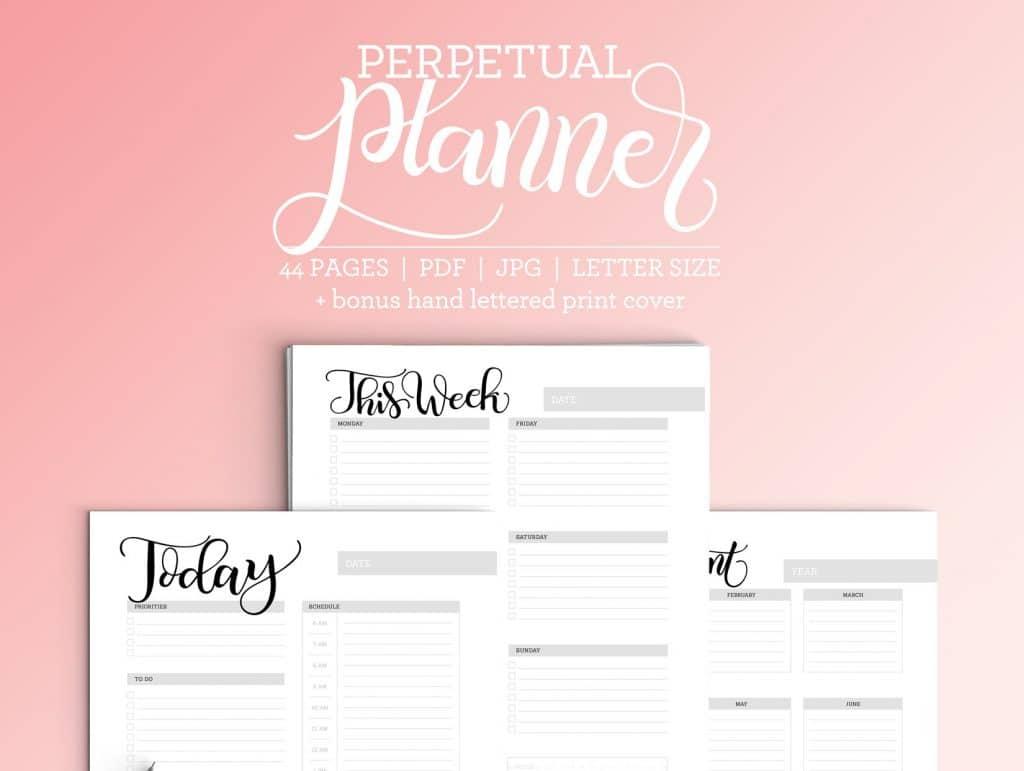 Perpetual Calendar + Planner