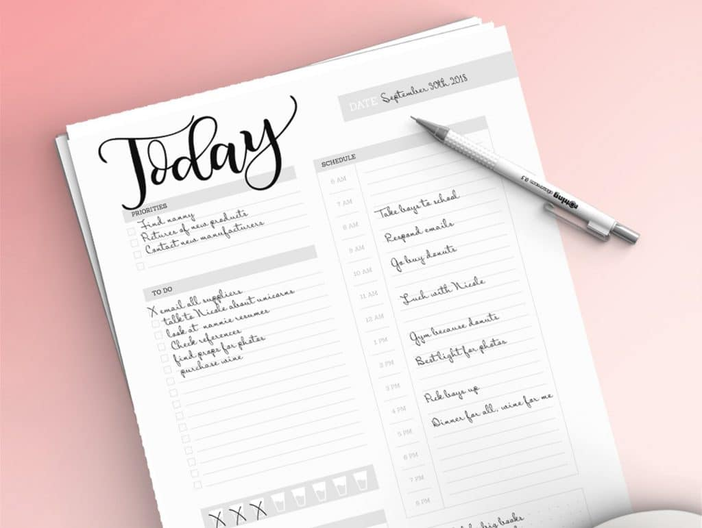 Daily planner sheet – Planner