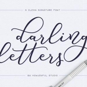 Darling Letters script font