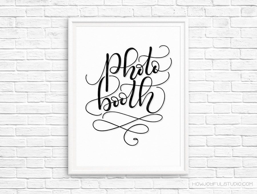 Photo booth – Printable