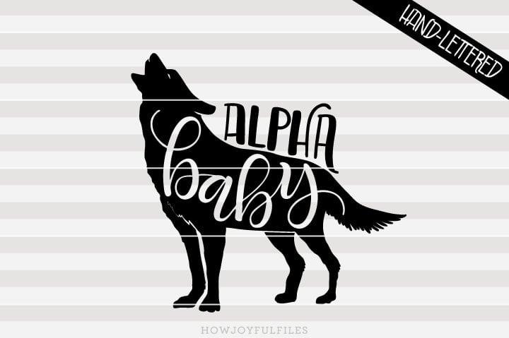 Alpha baby – SVG file