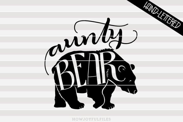 Aunty bear – SVG file