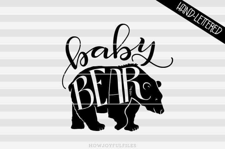 Baby bear – SVG file