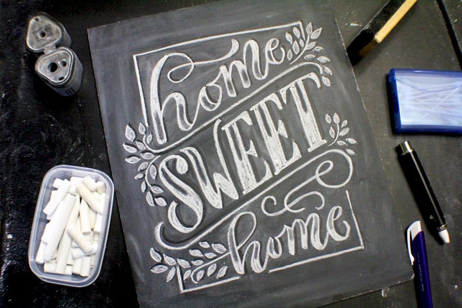 APRIL 28th 2018  – Workshop – CHALK lettering for beginners