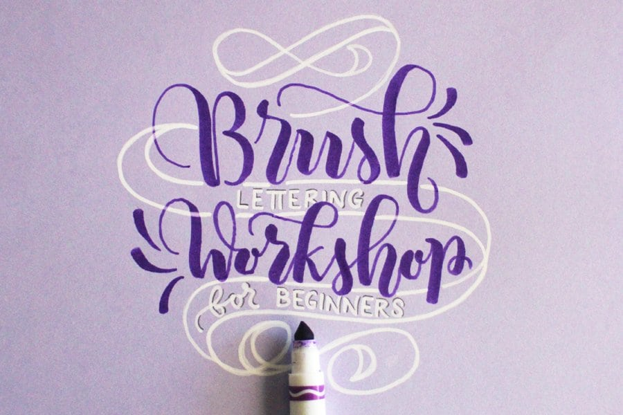 NEXT DATE COMING SOON – Workshop – BRUSH lettering for beginners