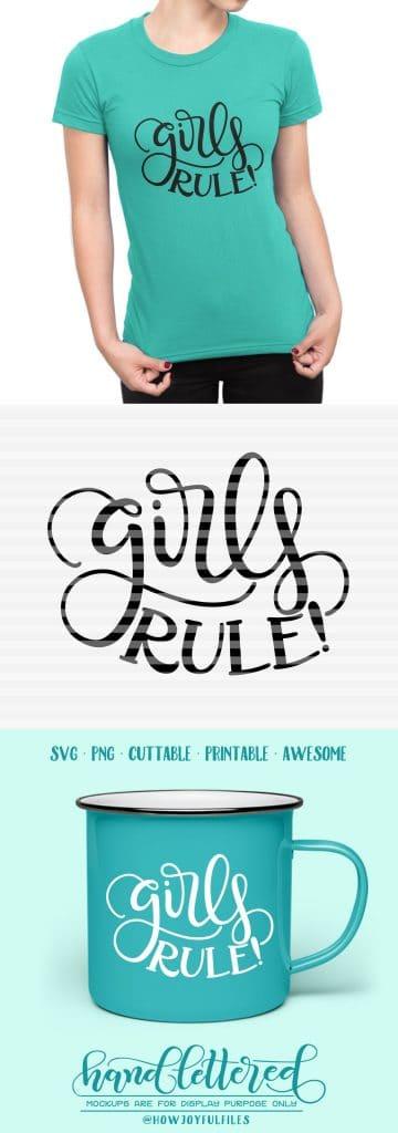 Girls Rule Svg File Howjoyful Studio