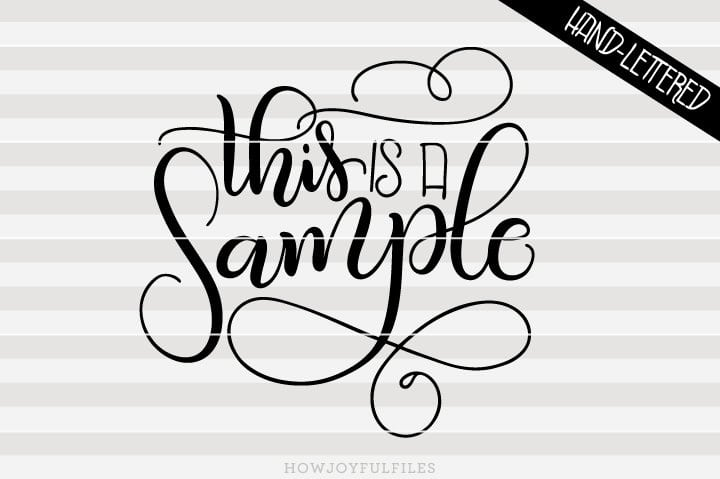 Sample SVG lettering