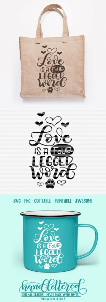 View Love Is A Four Legged Word Svg Image