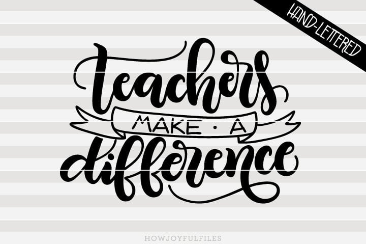 Teachers make a difference – SVG file