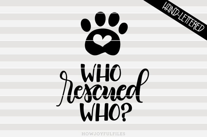 Who rescued who? – Rescued dog, Rescued cat – SVG file
