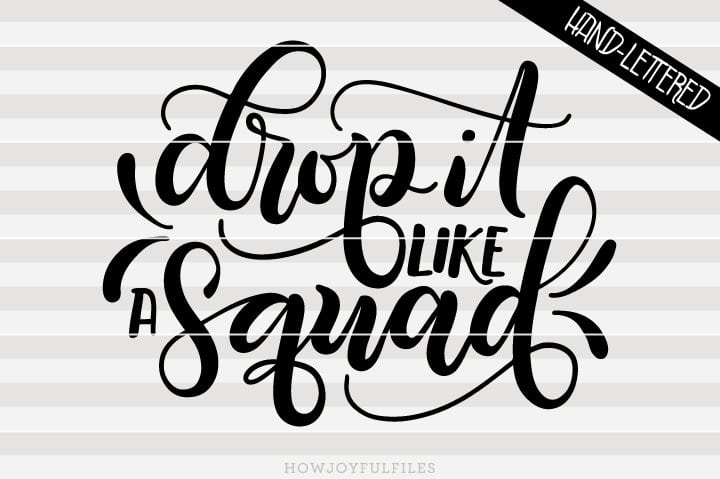 Drop it like a squad – SVG file