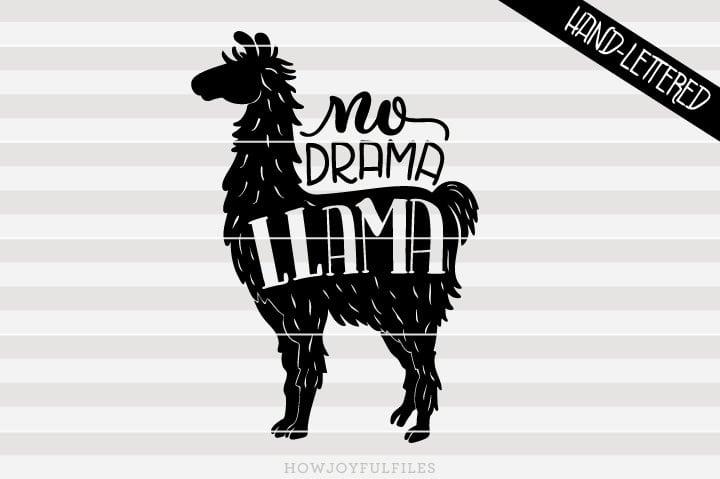 No drama llama – llama lover – SVG file