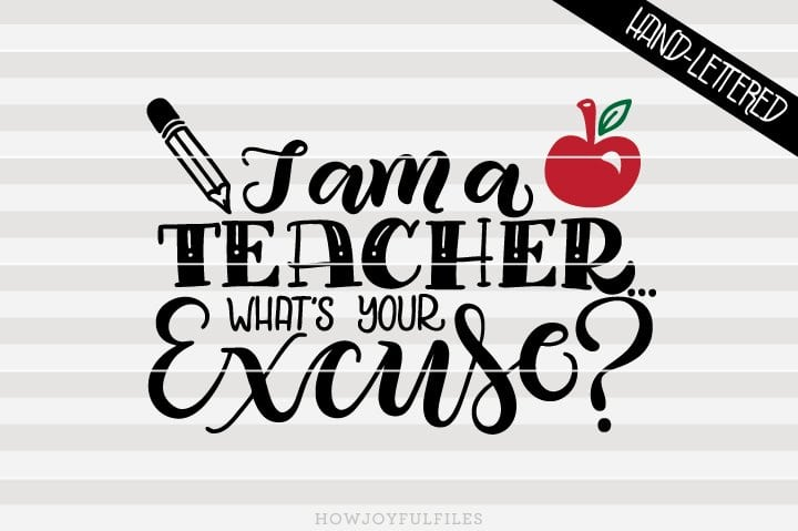 I am a teacher! What's your excuse? – SVG file