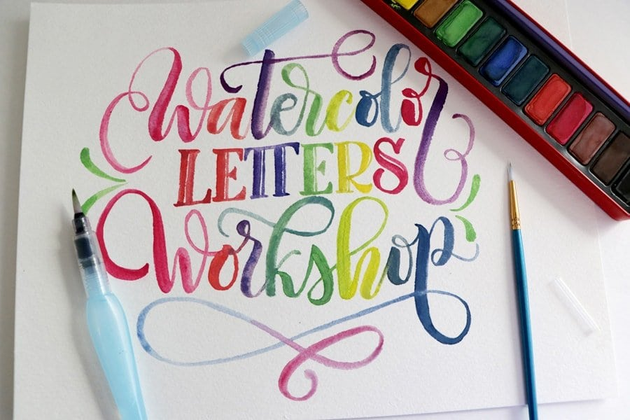 Next date coming soon  – Workshop – Watercolor calligraphy for beginners