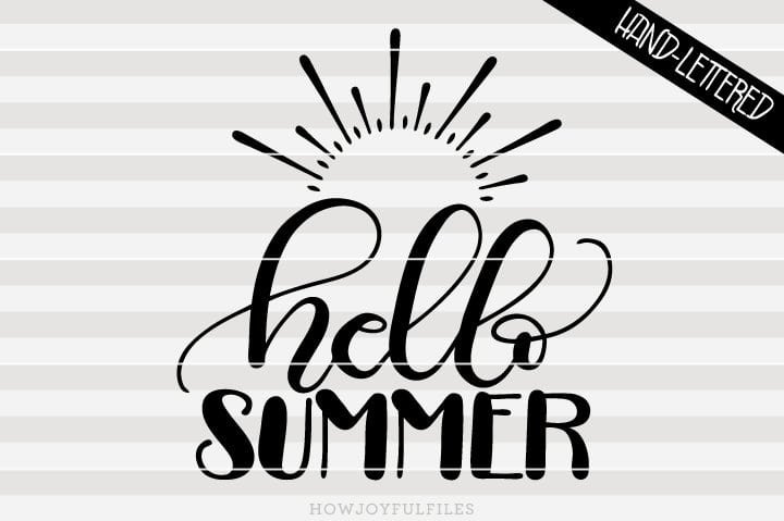 Hello summer – SVG file