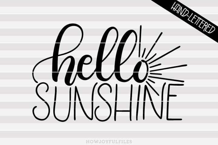 Hello sunshine – SVG file