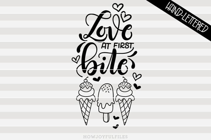 Love at first bite – ice cream – summer – SVG File