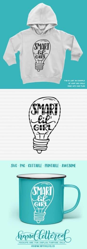 Smart Little Girl Svg File Howjoyful Studio