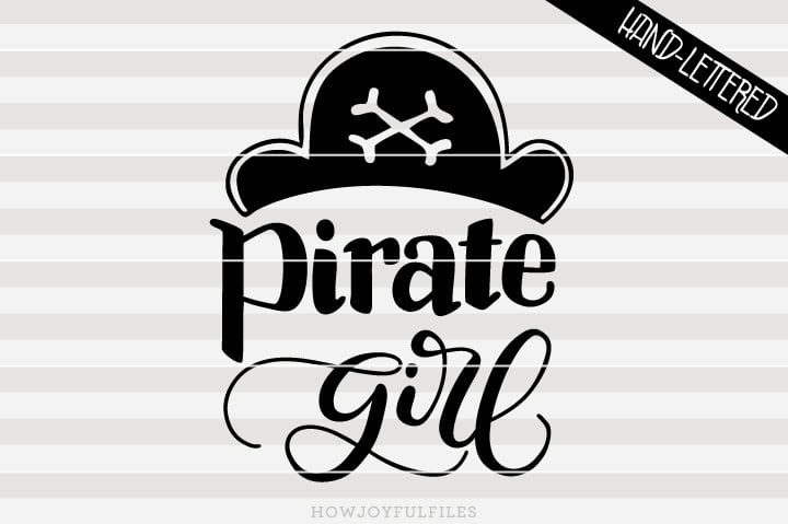 Pirate girl – ahoy matey – SVG File