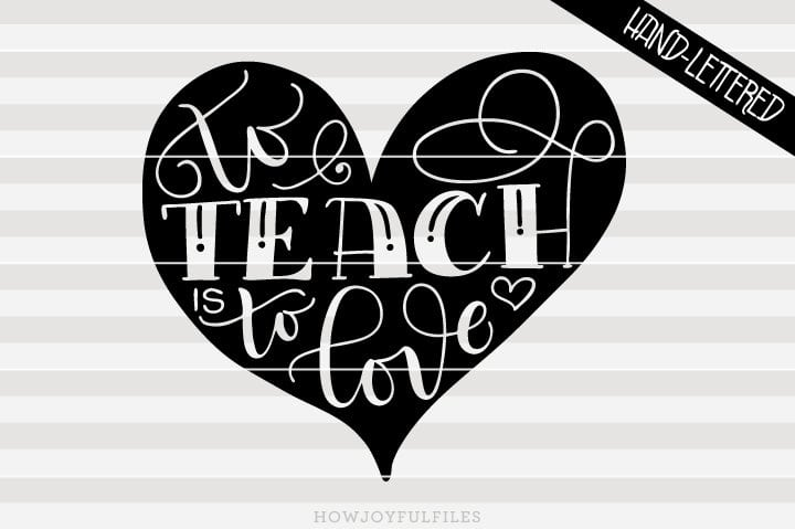To teach is to love – SVG file