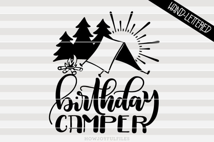 Birthday camper – SVG file
