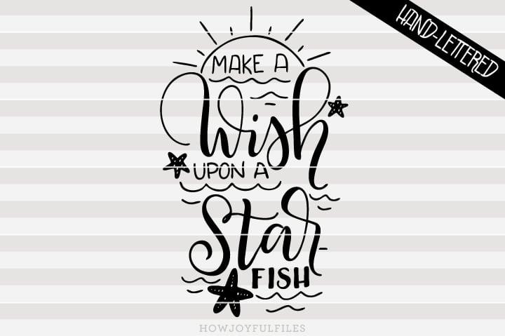 Make a wish upon a starfish – SVG file