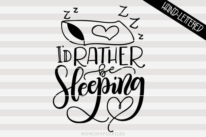 I'd rather be sleeping – SVG file