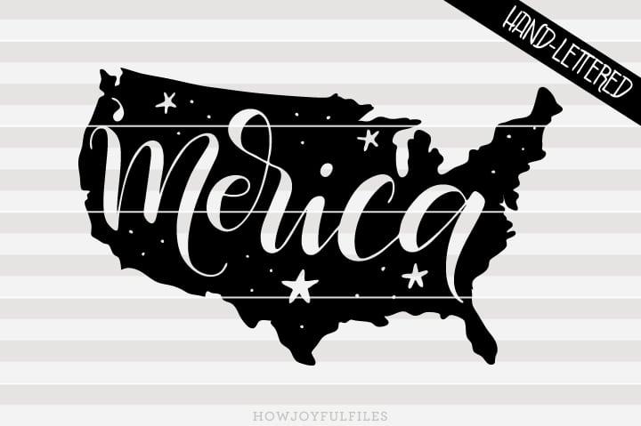 America – 'Merica – USA map – SVG file