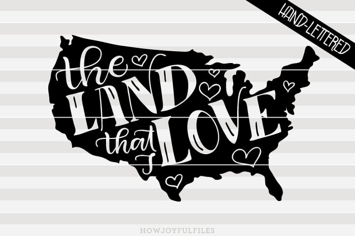 The land that I love – USA map – SVG file