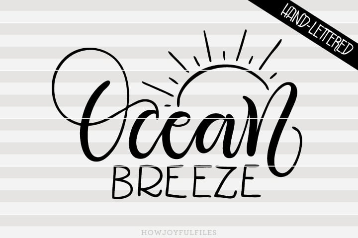 Ocean breeze – summertime – SVG file
