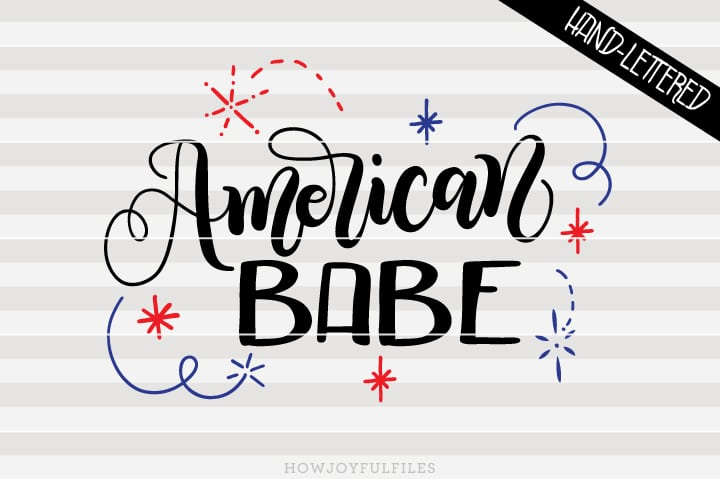 American babe – 'Merica – USA Independence – SVG file