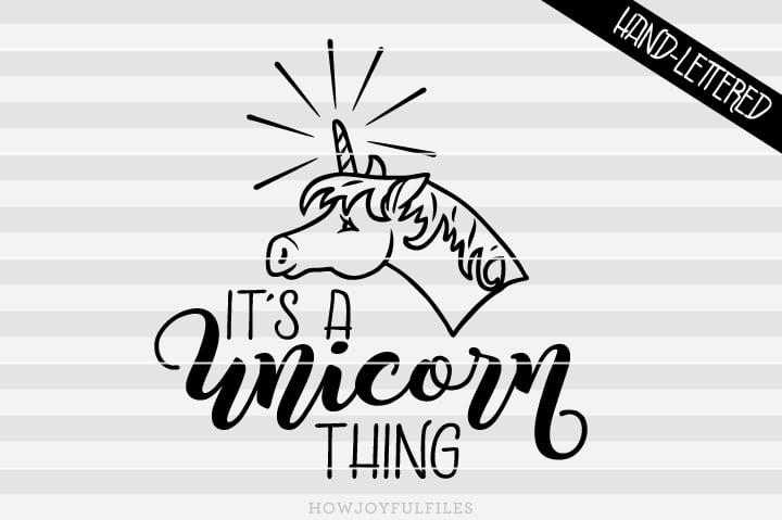 It's a unicorn thing – SVG file