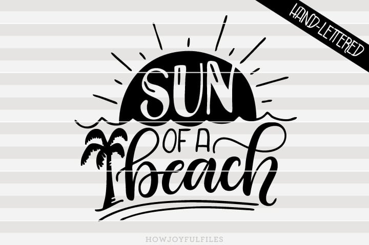 Sun of a beach – funny summer – SVG file