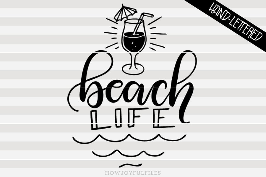 Beach life – summertime – SVG file