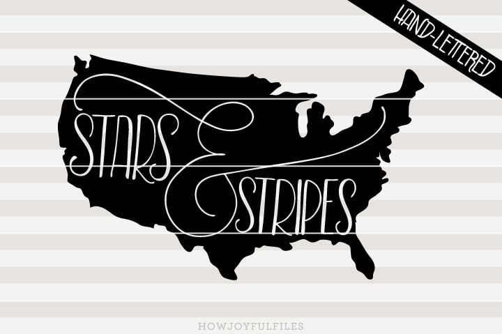 Stars and stripes – USA map – SVG file