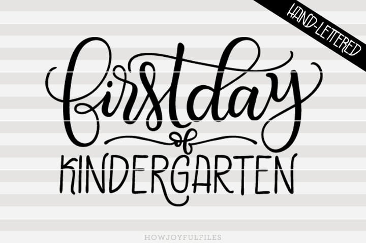 First day of kindergarten – SVG file