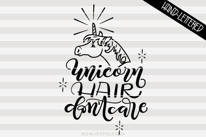 Unicorn hair don't care – Hairdresser – SVG file