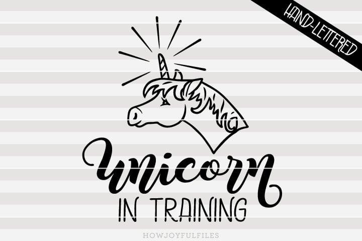 Unicorn in training – SVG file