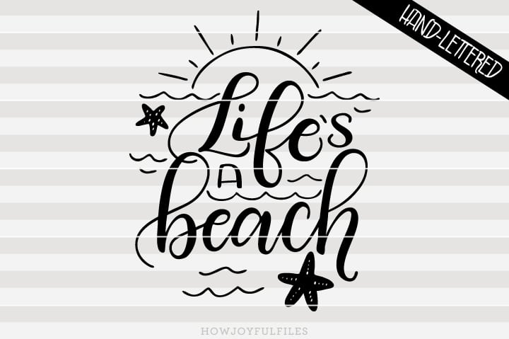 Life's a beach – SVG file