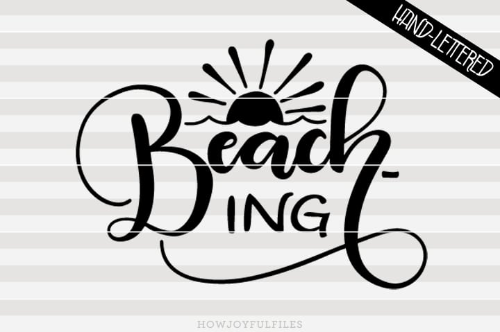 Beach-ing – SVG file