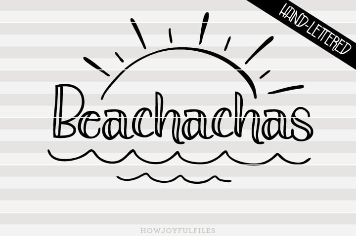 Beachachas – SVG file