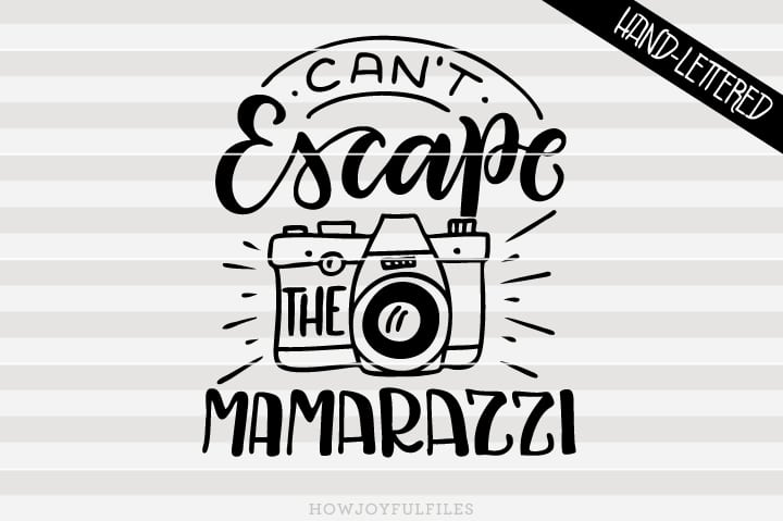 Can't escape the mamarazzi – SVG file