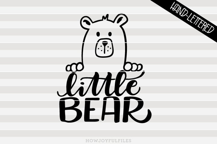 Little bear – SVG file
