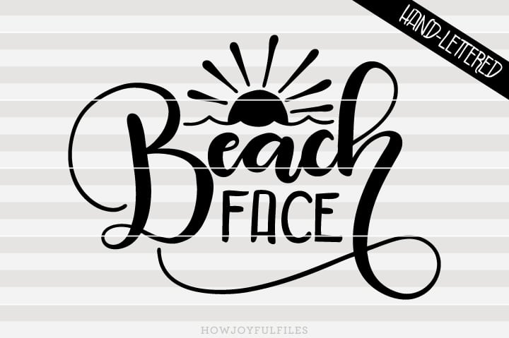 Beach face – SVG file