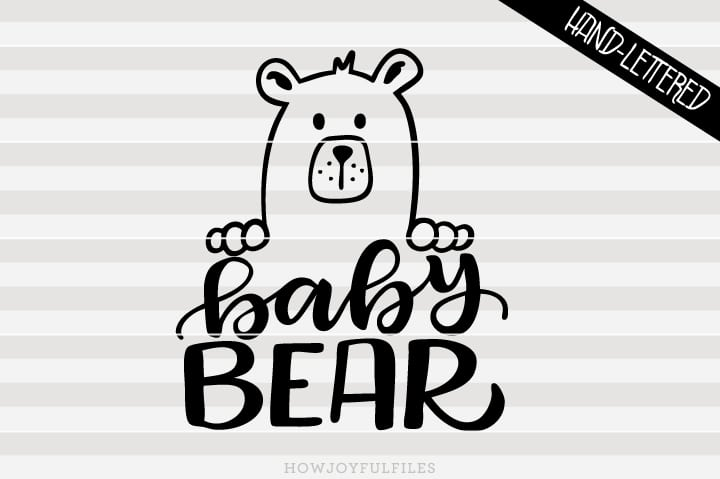 Baby bear – SVG file